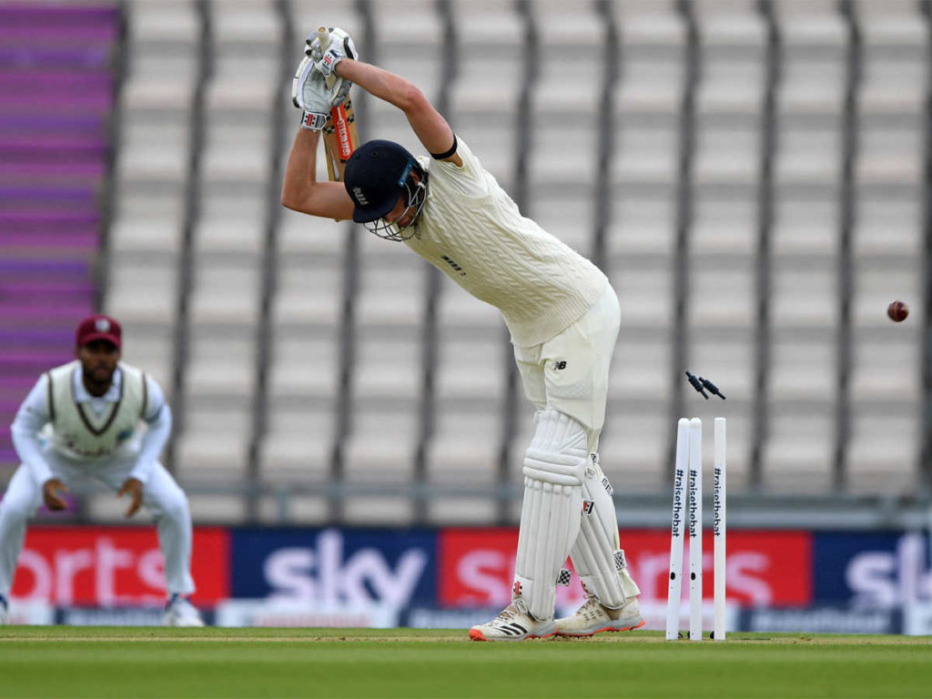 England vs west indies first test match 2020 day 1 spoiled by rain