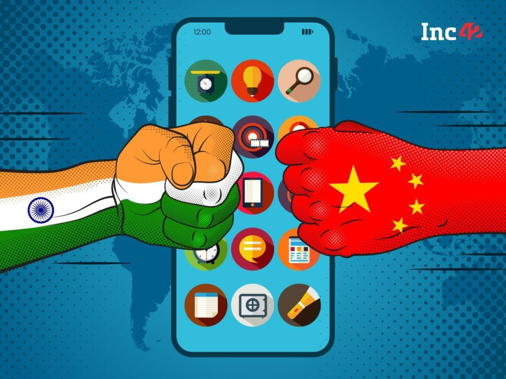 Indian government strike on chines app